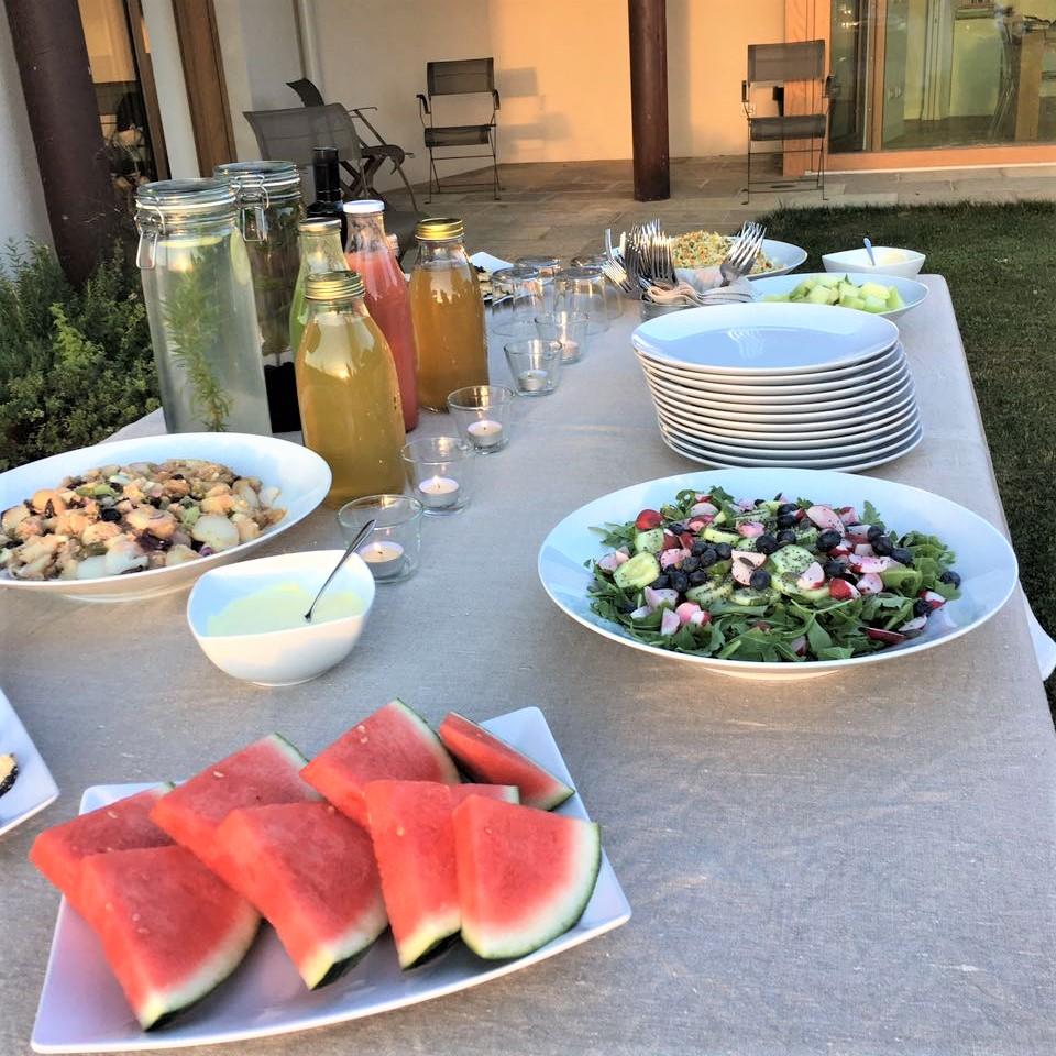 Insalata, Anguria, Estratti, Riso basmati con verdure