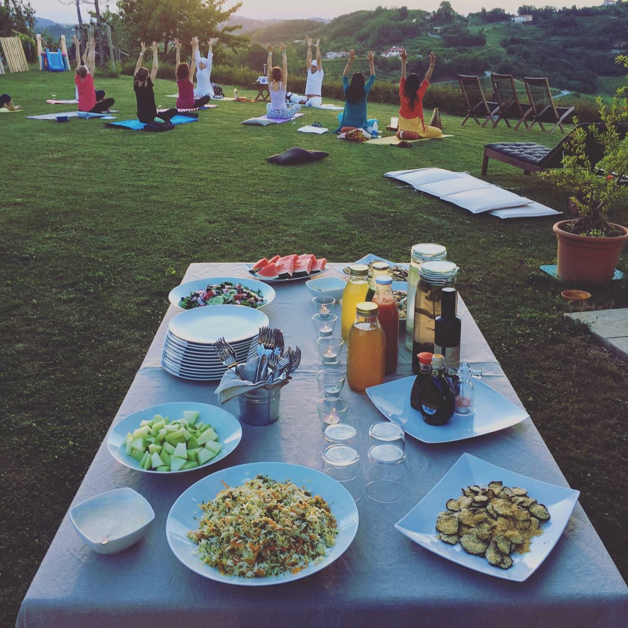 Kundalini Yoga + Buffet Vegetariano in Vigna